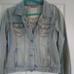 Aeropostale Vintage Distressed Denim Jean Jacket